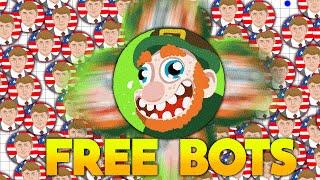 getlinkyoutube.com-AGAR.IO - 500 Free 132 mass bots?! // INSANE BOT GAMEPLAY