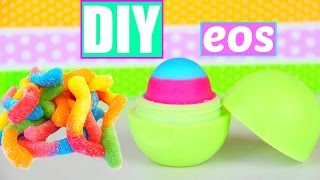 getlinkyoutube.com-DIY EOS out of Gummy Worms! Make lip balm out of Candy!