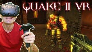 PLAY QUAKE II IN VIRTUAL REALITY ON HTC VIVE & OCULUS RIFT | Quake 2 VR MOD Gameplay width=