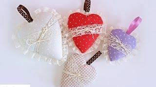 getlinkyoutube.com-Tutorial: Cuori di Stoffa (no cucito) - Fabric Hearts (no sew)