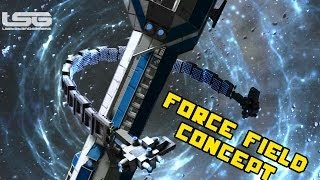 Space Engineers - Force Field Basic Testing, Stopping The Rammer