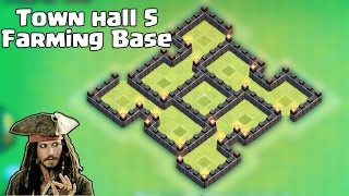 getlinkyoutube.com-Clash of clans - Town hall 5 (TH5) Best Farming Base 2015