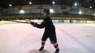 getlinkyoutube.com-How to take a Slapshot While Skating