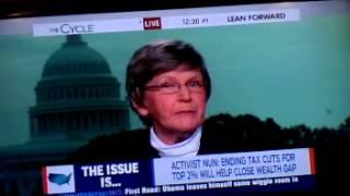 getlinkyoutube.com-Sister Simone Campbell destroys S.E. Cupp on Inequality - Nuns on a bus - The Cycle MSNBC
