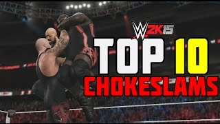 getlinkyoutube.com-WWE 2K15 - Top 10 Chokeslams The Undertaker! | PS4/XB1 (WWE 2K16 Countdown)