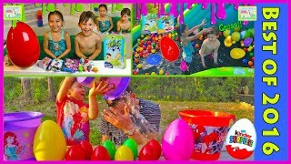 getlinkyoutube.com-Big Eggs Surprise Toys Challenge for Kids Compilation Squishy Slime Baff Challenges PieFace WetHead