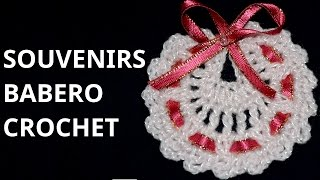 getlinkyoutube.com-Como tejer Souvenirs Modelo Babero en tejido crochet tutorial paso a paso.