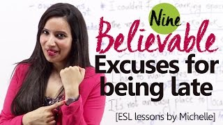 getlinkyoutube.com-09 Believable Excuses for being late- Free English Lesson by Michelle
