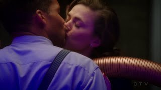 getlinkyoutube.com-Agent Carter 02x07: Peggy and Dr. Wilkes kiss scene