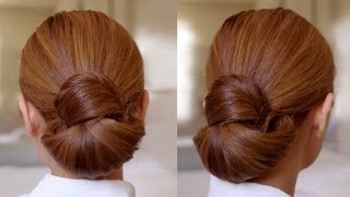 getlinkyoutube.com-Hair Tutorial: Easy Elegance Hair Bun
