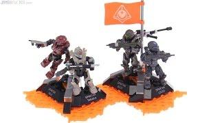 getlinkyoutube.com-Mega Construx Halo 5 Fireteam Osiris figure pack review
