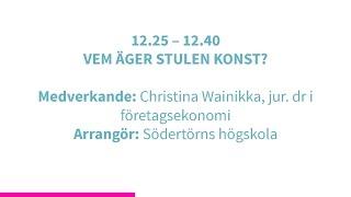 Forskartorget 2015 -  VEM ÄGER STULEN KONST?