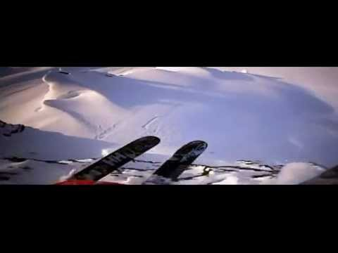 Epic Downhill Skiing Big Mountain Jumps Freeride Mark Abma Music by Calpa track Slow Patrol