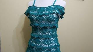 getlinkyoutube.com-Vestido para Dama  Crochet parte 1 de 3