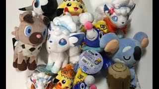 Japan Pokemon Center Alola Vulpix Rockruff Komala Plush Toys