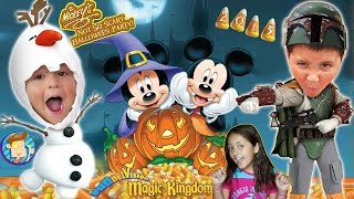 getlinkyoutube.com-Trick or Treating in DISNEY WORLD!  Mickey's Not So Scary Halloween Party 2015 (FUNnel Vision Trip)