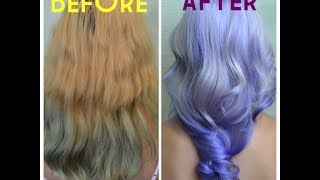 getlinkyoutube.com-Nam Nguyen - Kelly Osbourne inspired Balayage Ombre [how to purple hair]