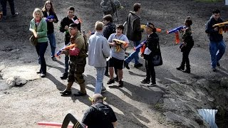 getlinkyoutube.com-Camarillo Humans vs. Zombies Winter 2012 - Game 2, Part 1/4 - Early Zombie Action