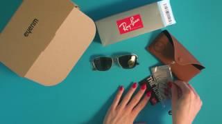 eyerim presents: Unboxing of Ray-Ban CARAVAN RB3136 181 sunglasses width=