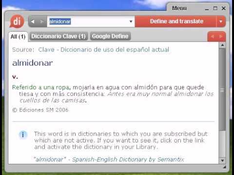 Definición de almidonar
