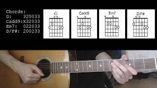 Demi Lovato - Skyscraper EASY Guitar Tutorial