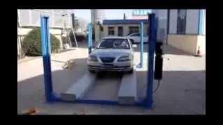 getlinkyoutube.com-4 Post car parking lift (CE standard)