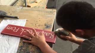 getlinkyoutube.com-How To Make a Rustic Spray Painted Custom Wood Sign