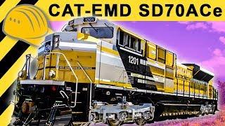 getlinkyoutube.com-🔥Caterpillar Locomotive SD70ACe Inside & Walkaround - CAT MINExpo 2012 - Bauforum24 TV