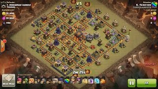 getlinkyoutube.com-Clash of Clans TH10 vs TH10 Hog Rider, Golem, Wizard & Witch (HoGoWiWi) Clan War 3 Star Attack
