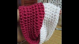 getlinkyoutube.com-Scarf Knitting Pattern - Hướng dẫn đan khăn kiểu xương cá