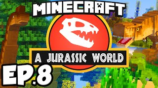 Jurassic World: Minecraft Modded Survival Ep.8 - PULVERIZER & INDUCTION SMELTER!!! (Rexxit Modpack)