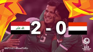getlinkyoutube.com-IRAQ vs YEMEN: AFC U23 Championship 2016 (Group Stage)
