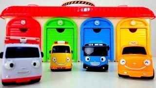 getlinkyoutube.com-Мультики про машинки: Автобус Тайо и Машинки - помощники! Скорая помощь, Такси, Эвакуатор