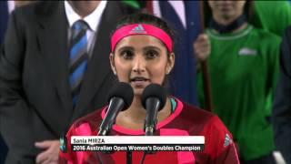 getlinkyoutube.com-Hingis and Mirza: women's doubles champions | Australian Open 2016