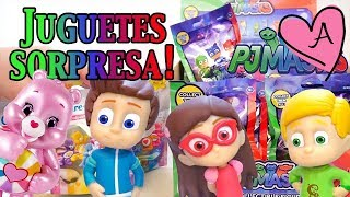 getlinkyoutube.com-Juguetes sorpresa de Héroes en pijamas y Ositos cariñositos - PJ Masks y Care Bears en español