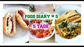 FOOD DIARY #5 / Was ich so esse / 5 Tage / Frühstück, Snacks, Abendessen