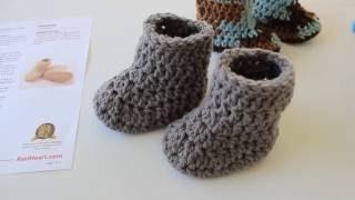 getlinkyoutube.com-Warm Crochet Baby Boots