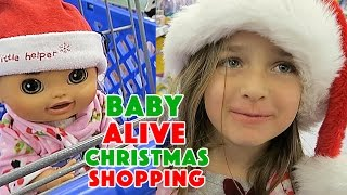 getlinkyoutube.com-Christmas Shopping with Baby Alive at ToysRUS before Black Friday