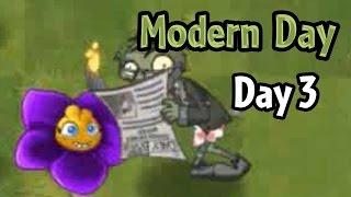 getlinkyoutube.com-Plants vs Zombies 2 - Modern Day - Day 3: Shrinking Violet and Newspaper Zombie
