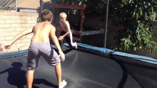 getlinkyoutube.com-WWE Tag Team Match (Trampoline)