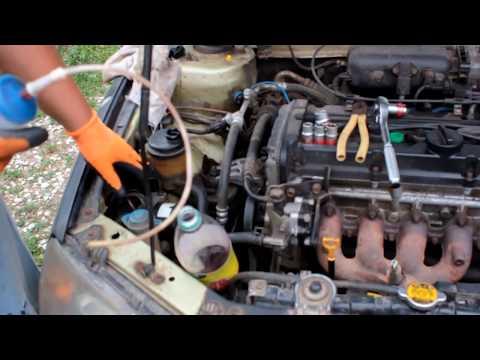 Как снять насос гидроусилителя на Хундай Акцент,Элантра.16 кл. (Hyundai Accent,Elantra)