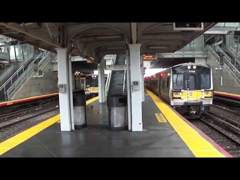MTA Long Island Rail Road Bombardier M7 #7764 & #7746 departing Jamaica