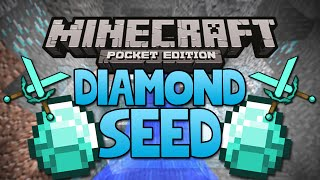 DIAMOND SEED - Minecraft Pocket Edition Seed (Rare Village Seed!)