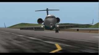 getlinkyoutube.com-MiSO X-Plane CRJ200 Landing Gear Failaure Emergency landing