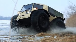 getlinkyoutube.com-Extreme Off Road Russian Amphibious SHERP Vehicle