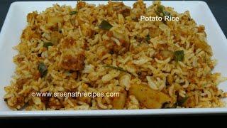 getlinkyoutube.com-Potato Rice - Lunch Box Recipe