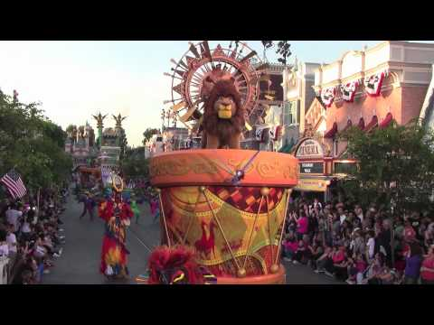 Mickey's Soundsational Parade at Disneyland Park featuring drummer Mickey Mouse