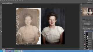 getlinkyoutube.com-Timelapse of the Colorization and Restoration of a Damaged Photo