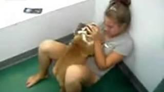 Naughty Dog with girl