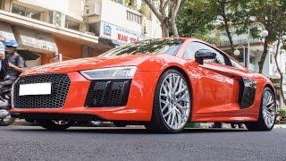 getlinkyoutube.com-Audi R8 V10 Plus tăng tốc gầm rú cực đã trên phố | XSX